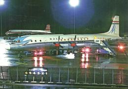 AIRPLANE * AEROPLANE * AIRCRAFT * ILYUSHIN IL-18 * HUNGARIAN AIRLINES * MALEV * SAS * STERLING * Reg Volt 0218 * Hungary - 1946-....: Ere Moderne