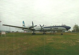 AIRPLANE AEROPLANE AIRCRAFT ILYUSHIN IL-18 HUNGARIAN AIRLINES MALEV AEROPARK BUDAPEST AIRPORT * Reg Volt 0222 * Hungary - 1946-....: Ere Moderne