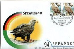 GERMANY, Letter, Eagles   /  ALLEMAGNE   Lettre, Les Aigles,  1994 - Adler & Greifvögel