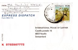 BOTSWANA , Letter, Bird   /  Lettre, Oiseau - Storchenvögel