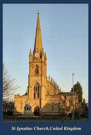 T91-064 ]    St Ignatius Church UK  Cathedral Church Dom ,  Prestamped Card - Chiese E Cattedrali