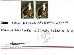 IVORY COAST, Letter, Eagle   /  CÔTE D`IVOIRE  Lettre , L`aigle   1983 - Adler & Greifvögel