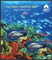 AUSTRALIA, 2018 BARRIER REEF MACAU MINISHEETS PERF & IMPERF MNH - 2010-... Elizabeth II