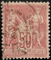 France N°98 Sage 50c. Rose . Oblitéré CàD - 1876-1898 Sage (Type II)