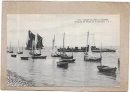 SAINT VALERY SUR SOMME - 80 -   Barques De Peche Et Torpilleurs   - DELC6** -- - Saint Valery Sur Somme