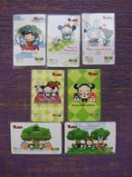 Prepaid Phonecard, Pucca, Set Of 11,used - Thaïlande
