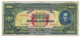 Bolivia 10000 Bs 1945, Used , RARE. - Bolivie