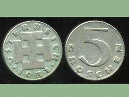 AUTRICHE  5 Groschen  1931 - Autriche