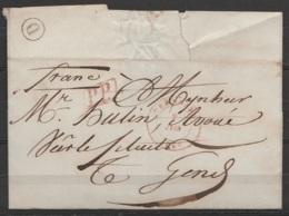 """LSC Càd DENDERMONDE /2 Juin 1847 Pour GEND - Boîte """"D"""" De Moerbeke [P.P.] - 1830-1849 (Independent Belgium)"""