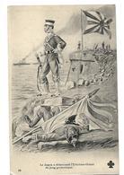 ILLUSTRATION ANTI ALLEMANDE LE JAPON A DEBARASSE L'EXTREME ORIENT DU JOUG GERMANIQUE 1915 CPA 2 SCANS - War 1914-18