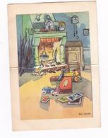 Petite Carte Double à Système, Intérieur En Relief, 1957 - Mappe