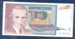 5000000 Dinara Yugoslavia 1993 - Jugoslavia