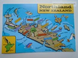 D162264 New Zealand  - Northland - Kerikeir Waitangi -Houhora -Tutukaka -Auckland   Map - Nieuw-Zeeland