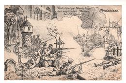 7055 , Feldpost,  Schlacht Bei St. Quentin - War 1914-18