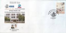 India 2018  Krisnamal Ramasubbaiyer School  SANGAMPEX  Special Cover  #15820  D  Inde Indien - India