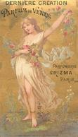 RARE CARTE PARFUMEE ANCIENNE - ERIZMA - PARFUMERIE ERIZMA PARIS - PARFUMDE VENUS - Perfume Cards