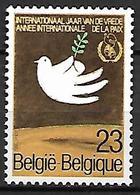 BELGIQUE   -  1986  .  Y&T N° 2204 *.   Année De La Paix.  Colombe, Olivier - Belgique