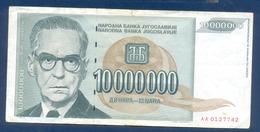 10000000 Dinara Yugoslavia 1993 - Yougoslavie