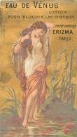 "RARE CARTE PARFUMEE ANCIENNE - ERIZMA - PARFUMERIE ERIZMA PARIS - LOTION ""EAU DE VENUS"" - Perfume Cards"