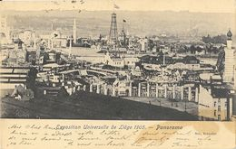 Exposition Universelle De Liege 1905 - Panorama, Tour De Forage - Carte Nels Dos Simple - Liege