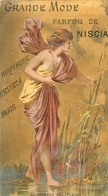 RARE CARTE PARFUMEE ANCIENNE - ERIZMA - PARFUMERIE ERIZMA PARIS - PARFUM DE NISCIA - Perfume Cards