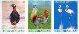 Turkmenistan 2017, Definitives, Fauna, Birds, 3v - Turkménistan