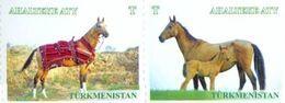 Turkmenistan 2017, Definitives, Fauna, Horses, 2v - Turkménistan