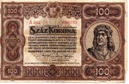 100 KORONA   BUDAPEST 1920 1936 - Hongrie