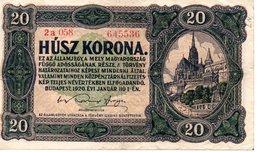 20 KORONA   BUDAPEST 1920 - Hongrie