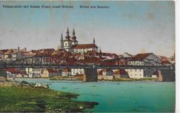 AK 0092  Gruss Aus Kaaden ( Kadan ) - Totalnsicht Mit Kaiser Franz Josef-Brücke Um 1915 - Tschechische Republik
