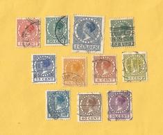 NL : 1924-1926 : Koningin Wilhelmina : Type Veth : 11 Verschillende, Gestempeld - 1891-1948 (Wilhelmine)
