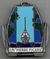 """C/S """" Pierre Picard """" - Insigne émaillé Drago Béranger Déposé - Marine"""