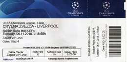 UEFA Champions League - Football Mach - Crvena Zvezda Vs Liverpool - Biglietti D'ingresso