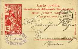 Suisse / Schweiz / Svizzera - UPU Motive  - Carte Postale - Businger - Luzern - Stradella 1900 - 1882-1906 Armarios, Helvetia De Pie & UPU