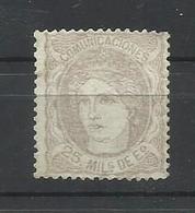 ESPAÑA EDIFIL  106    MH  *  ( FIRMADO SR. CAJAL, MIEMBRO DE IFSDA) - 1868-70 Gobierno Provisional