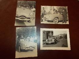 B703   4 Foto Vecchie Auto Cm10x7 - Non Classificati