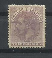 ESPAÑA EDIFIL  211   (*)  (SIN GOMA) - 1875-1882 Reino: Alfonso XII