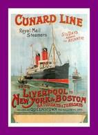 Thème Pub * Compagnie Cunard Line   * Cpm (scan Recto Et Verso) - Werbepostkarten