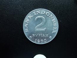 INDONÉSIE : 2 RUPIAH   1970    KM 21     Non Circulé - Indonésie