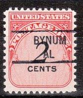 USA Precancel Vorausentwertung Preo, Locals Alabama, Bynum 841 - Etats-Unis