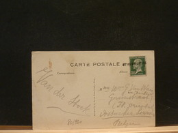 80/930   CP FRANCE POUR LA BELG.   GRIFFE NEVERS-PARIS - Marcofilie (Brieven)