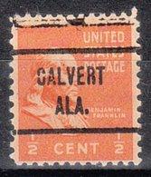 USA Precancel Vorausentwertung Preo, Locals Alabama, Calvert 721 - Etats-Unis