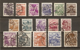 Autriche 1934/5 - Costumes Régionaux - Petit Lot De 16° - Timbres