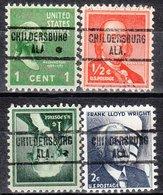 USA Precancel Vorausentwertung Preo, Locals Alabama, Childersburg 734, 4 Diff. - Vereinigte Staaten