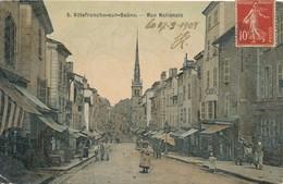 CPA - France - (69) Rhône - Villefranche-sur-Saone - Rue Nationale - Villefranche-sur-Saone