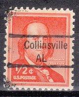 USA Precancel Vorausentwertung Preo, Locals Alabama, Collinsville 843 - Vereinigte Staaten