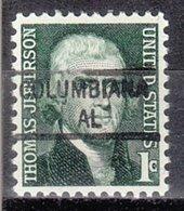 USA Precancel Vorausentwertung Preo, Locals Alabama, Columbiana 841 - Etats-Unis