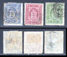 Danemark Service 1871 Yvert 1 / 3 (o) B Oblitere(s) - Service