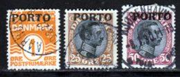 Danemark Taxe 1921 Yvert 1 - 6 - 7 (o) B Oblitere(s) - Port Dû (Taxe)