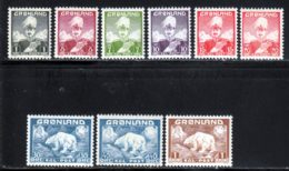 Groenland  1938 Yvert 1 / 9 ** TB - Neufs